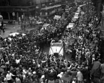 Gagarinn pasa por las calles de Londres, Gran Bretaña. Junio de 1961.