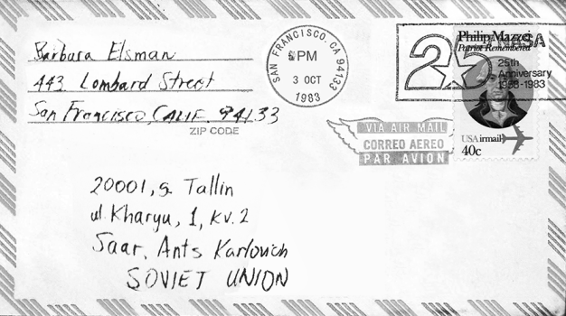 1983 USA to USSR Postmarked Cover