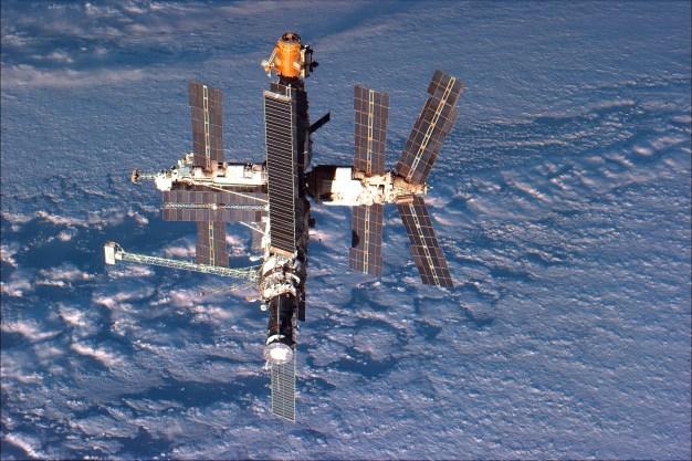 Estación Mir fotografiada el 24 de septiembre de 1996. Foto: NASA.