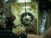 Soyuz TMA-14M Opening Hatch 01