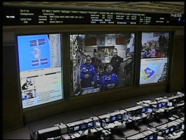 Interrupción de la señal, Centro de Control en Moscú. Foto: NASA TV.