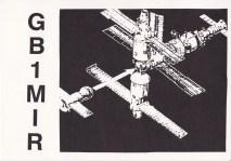Tarjeta QSL de radiodifusión de Helen Sharman (GB1MIR), transmitiendo desde la Estación Espacial MIR. . Foto: © AMSAT-UK.