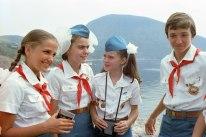 Samantha Smith durante su estancia en el Centro Internacional de Niños Artek, Yalta, Crimea, Unión Soviética, 11 de julio de 1983. Foto: Sergei Smolsky / ITAR-TASS.
