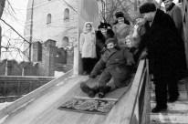 El líder de la Revolución Cubana Fidel Castro durante las celebraciones tradicionales del invierno ruso en un parque de Moscú, RSFS de Rusia, Unión Soviética. Foto: ITAR-TASS.