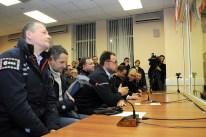 17 de Noviembre de 2016: Los miembros de la Expedición 50 hablan con sus familiares, amigos y autoridades de la NASA y Roscosmos en el edificio 254 tras pasar las pruebas de verificación en sus trajes intravehiculares Sokol, previo a su lanzamiento a bordo de la nave espacial Soyuz MS-03. Foto: S.P. Korolev/RSC Energia.