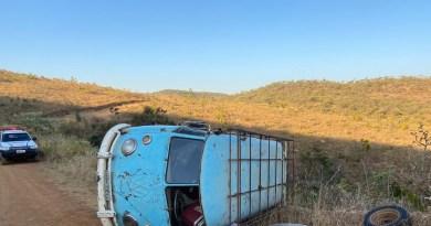 Idoso de 63 anos morre após capotar Kombi na Zona Rural de Guarda MOR
