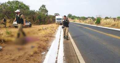 Mulher morre após ser atropelada por caminhão na MG-181 próximo ao Leilão da COHAB em João Pinheiro
