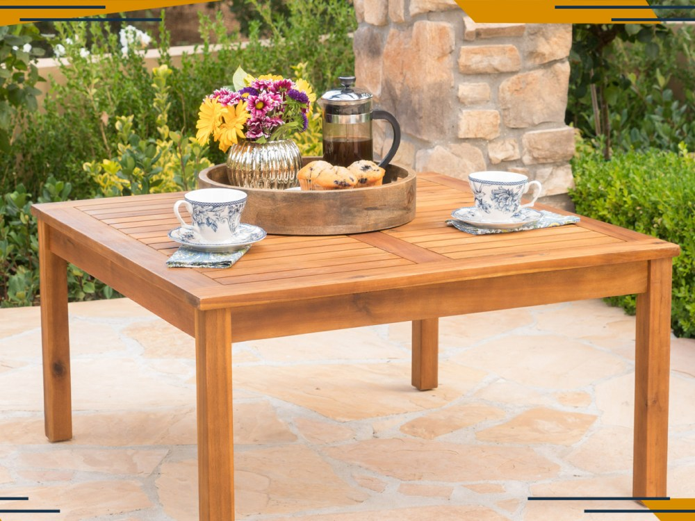 spruce up your patio with a fun functional outdoor coffee table