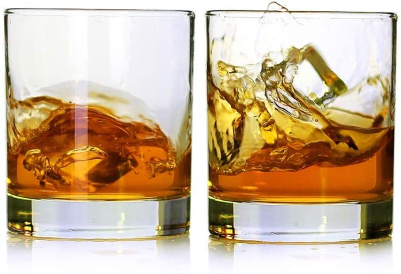 whiskey glasses, cheap Christmas gifts, budget Christmas presents