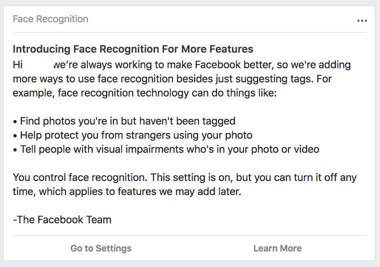 Facebook facial recognition Pakistan