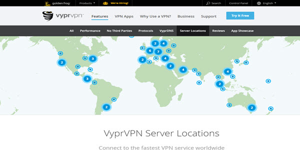VyprVPN Review Server