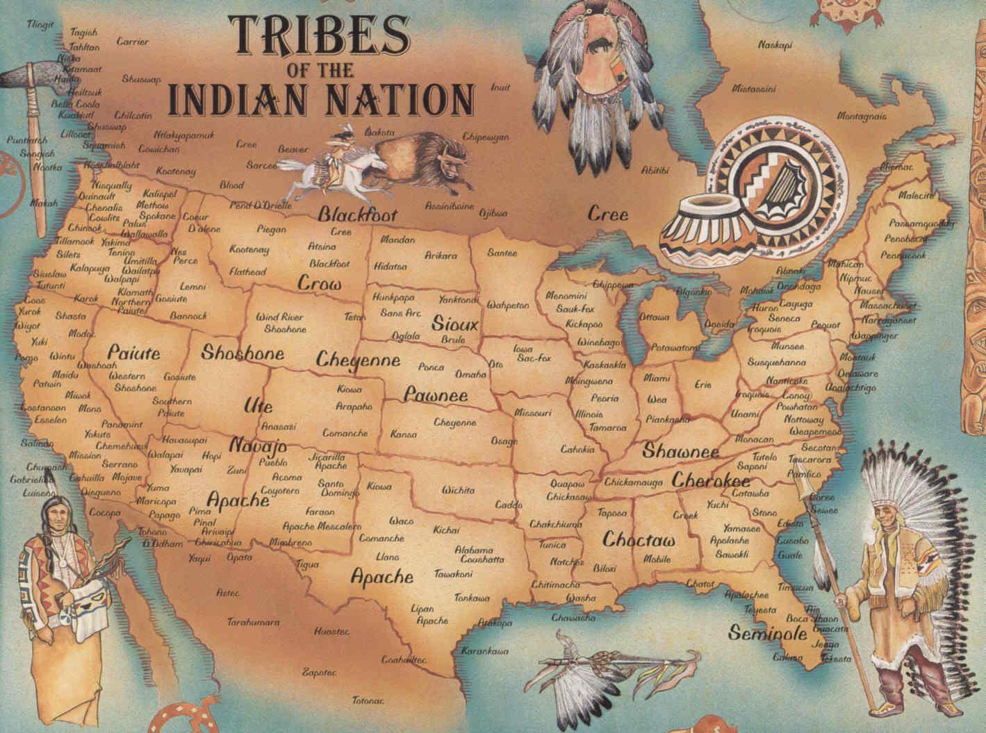 Map Of Native American Tribes Spydersden