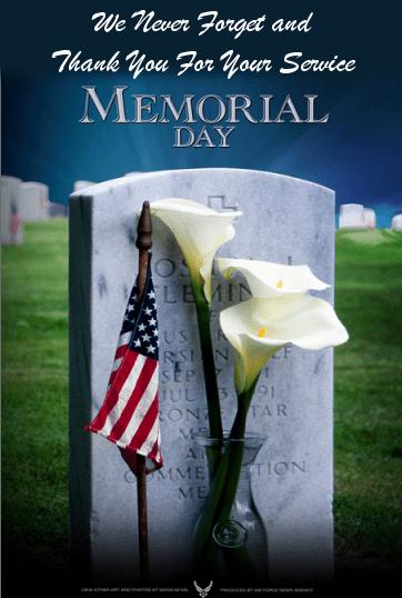 Happy Memorial Day Weekend! (1/3)