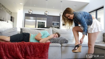 Dillion Harper in Step-Sister Curious About Brother's Cock 5