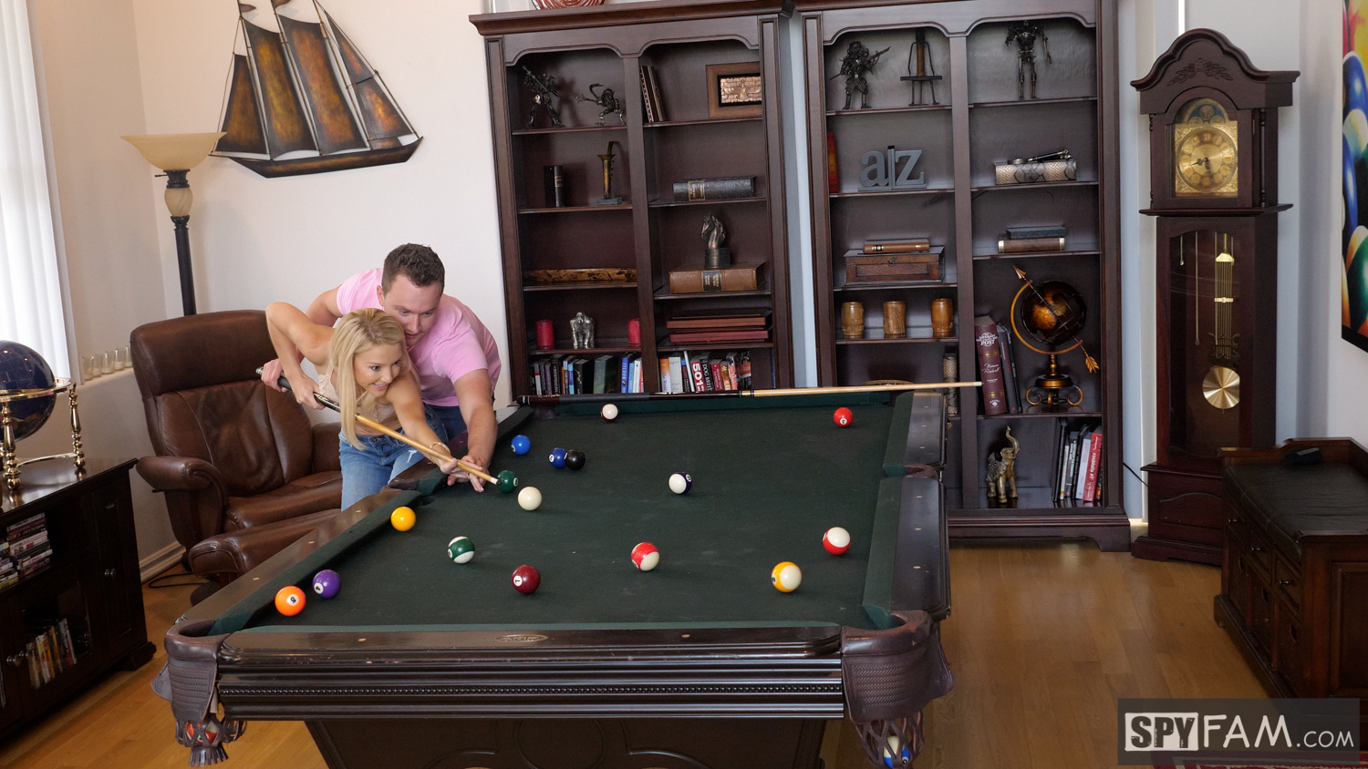 Laura Bentley in Stepmom Plays With Stepson's Cue Stick 10