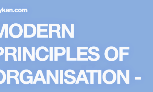 MODERN PRINCIPLES OF ORGANISATION