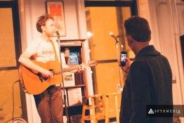 Josh Instagraming Peter Doran