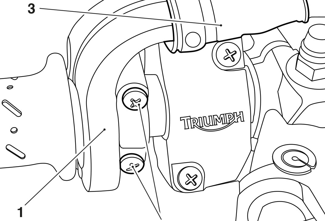 Technical diagrams and exploded diagrams for Triumph