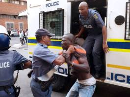South African policeman