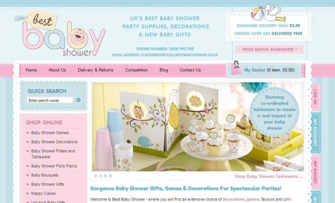 Wonderful Best Baby Shower Website Pastel