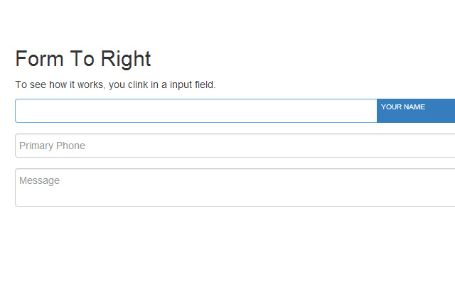 right form label animation open source code