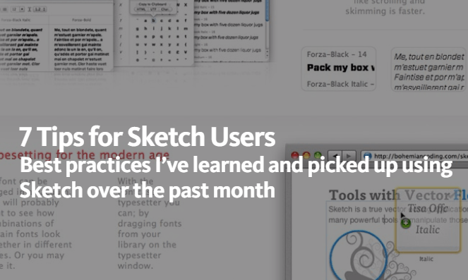 Best practices for Sketch