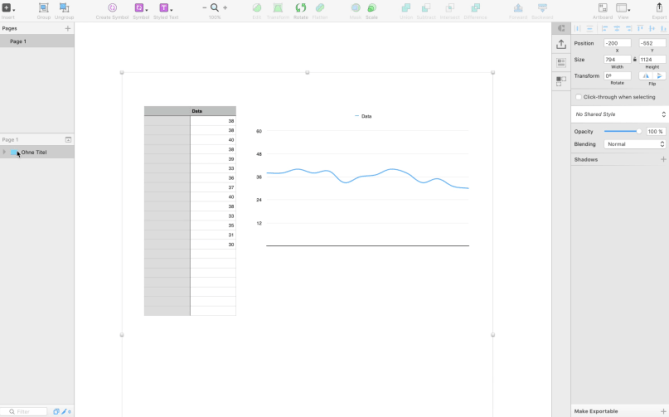 Design charts and tables with Sketch