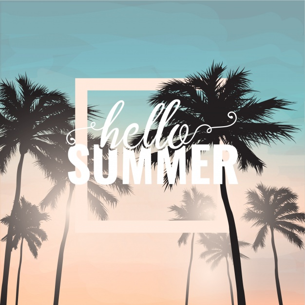 summer website themes palm tree background