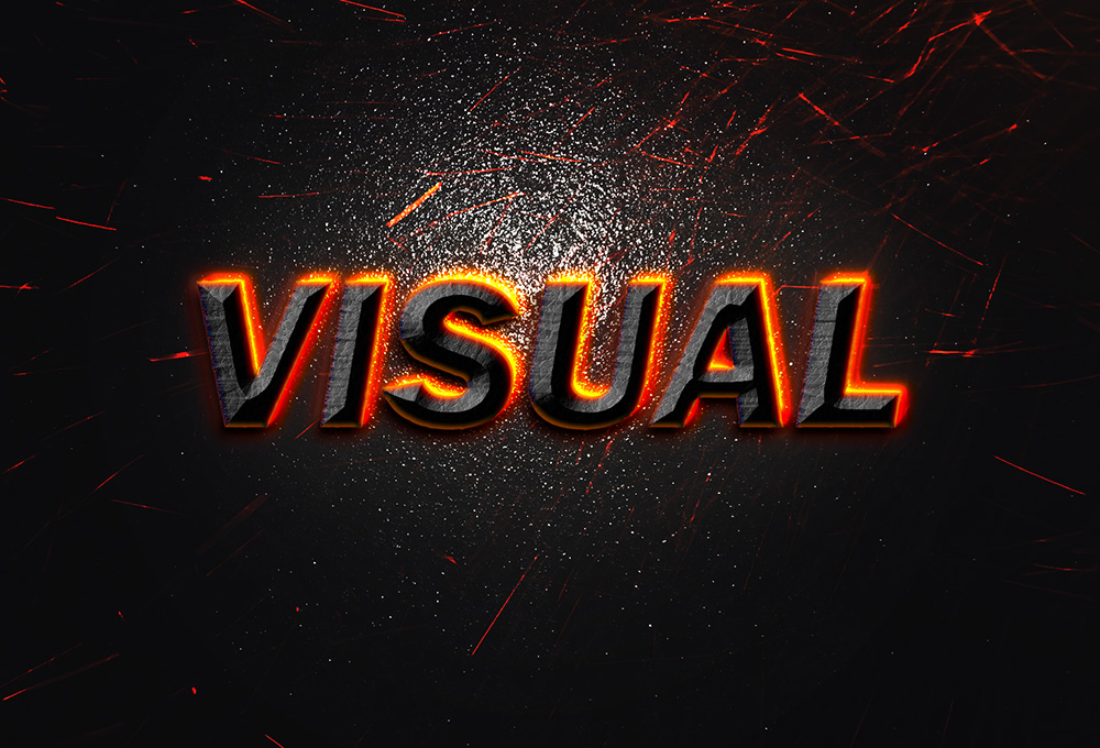 Visual text effect