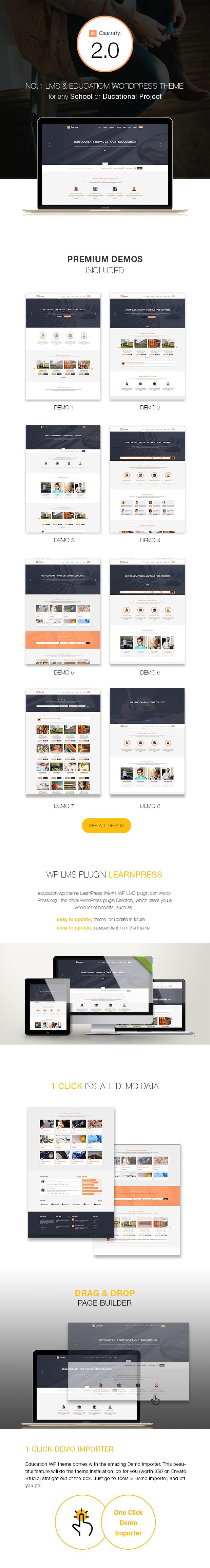 Coursaty - Courses | Education WordPress Theme - 1