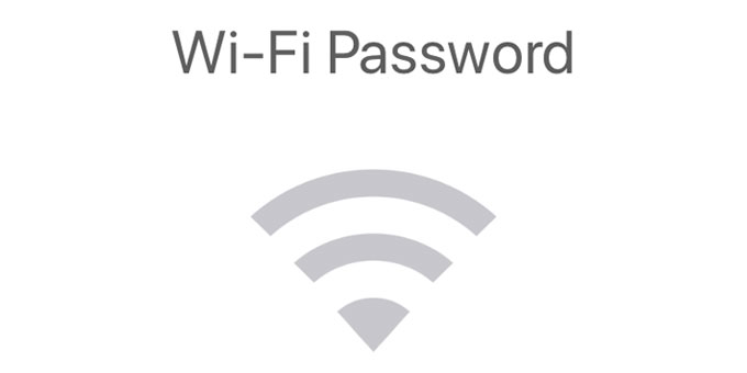 Wi-Fi password on Mac OS