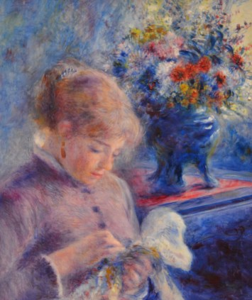 Young Woman Sewing — Pierre-Auguste Renoir