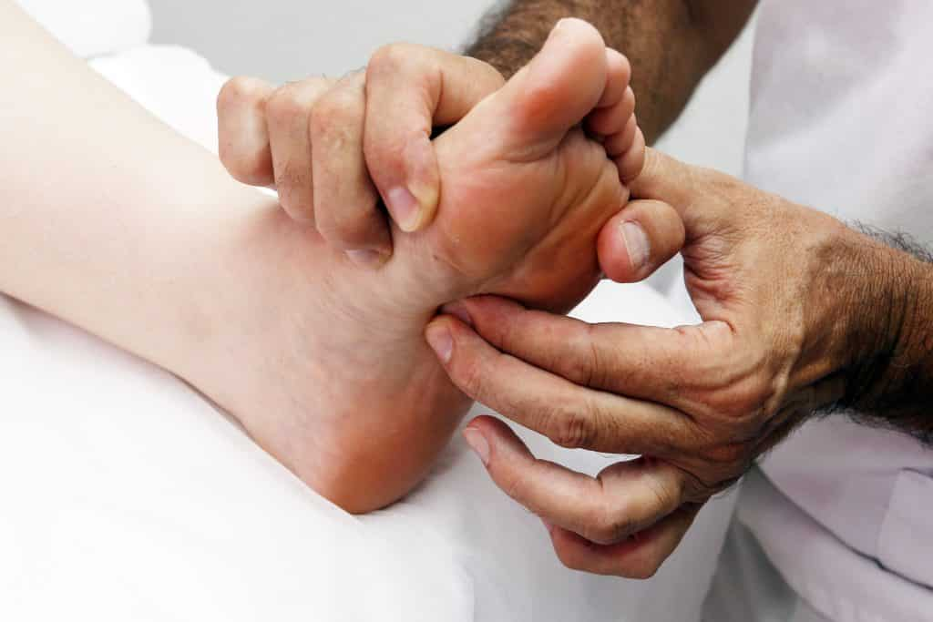 العلاج بالمنعكسات علاج الاقدام