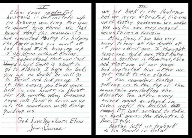 Letra drejtuar familjes Stefa