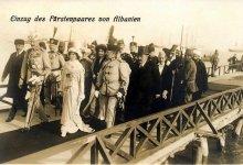 Mbërritja në Durrës e princit Vid dhe gruas së tij, princesha Sofi, 7 mars 1914