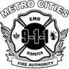 Metro Cities Fire Authority logo grey scale