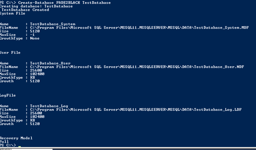 Creating SQL Server Database with PowerShell | SQL DBA with A Beard