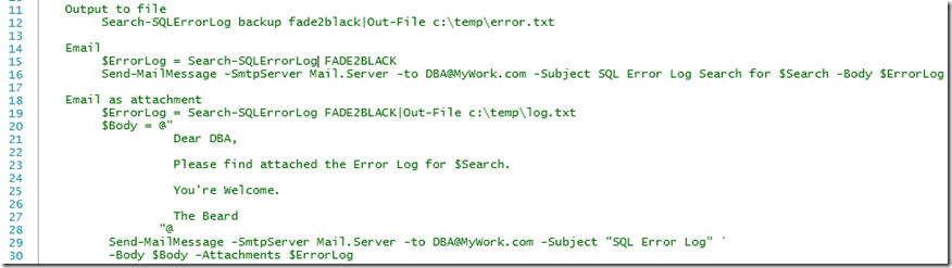 Searching the SQL Error Log with PowerShell | SQL DBA with A