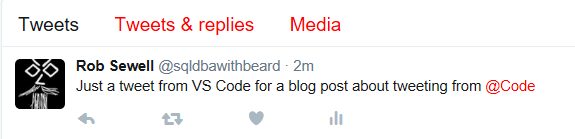 Using Twitter with VS Code   SQL DBA with A Beard