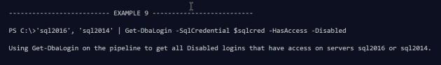 get-dbalogin example