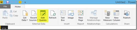 Edit Queries in Power BI Desktop