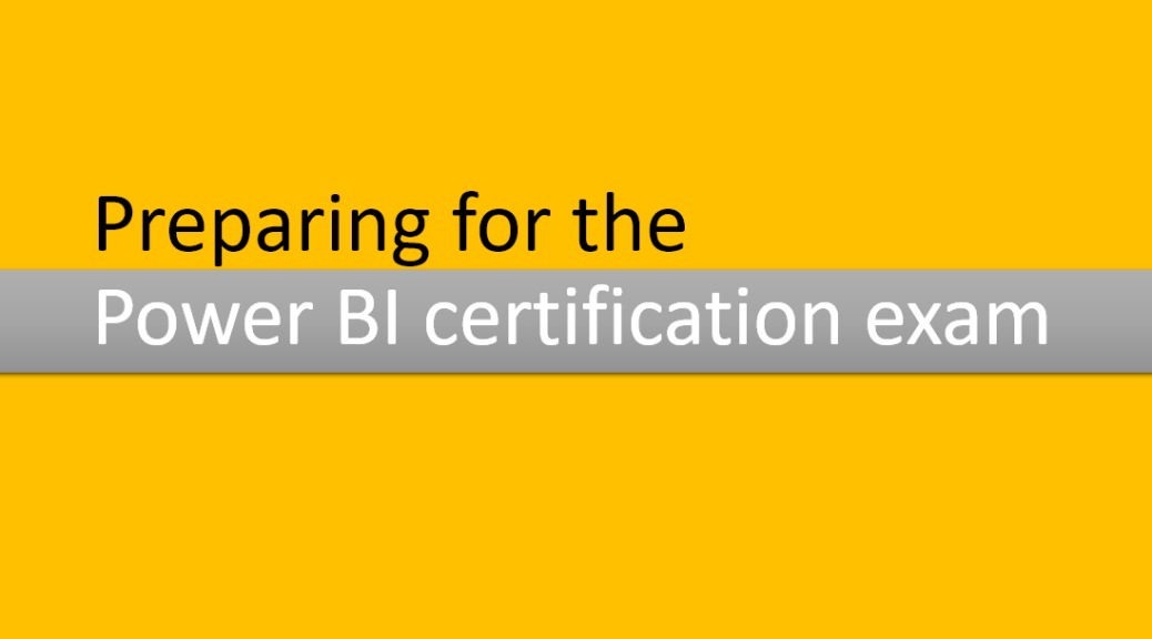 power bi certification exam study preparation materials