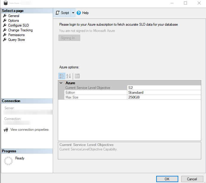 Como alterar rapidamente os objetivos de nível de serviço do Banco de Dados SQL do Azure - Uma visão do SQLEspresso 2