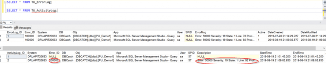 you've successfully built a t-sql activity log!