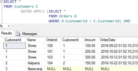 OUTER APPLY in Sql Server   SqlHints.com