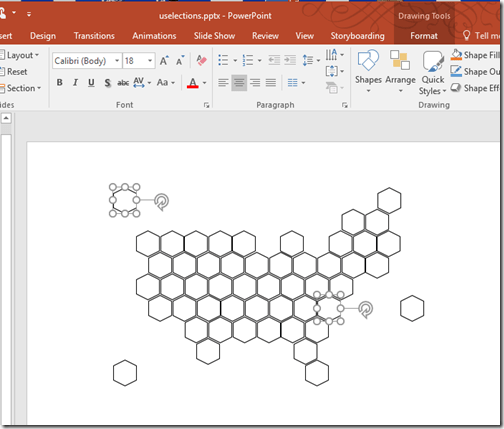Making hexagons in powerpoint