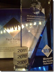 MVP for a 3rd year... Woo Hoo.  Just came today.
