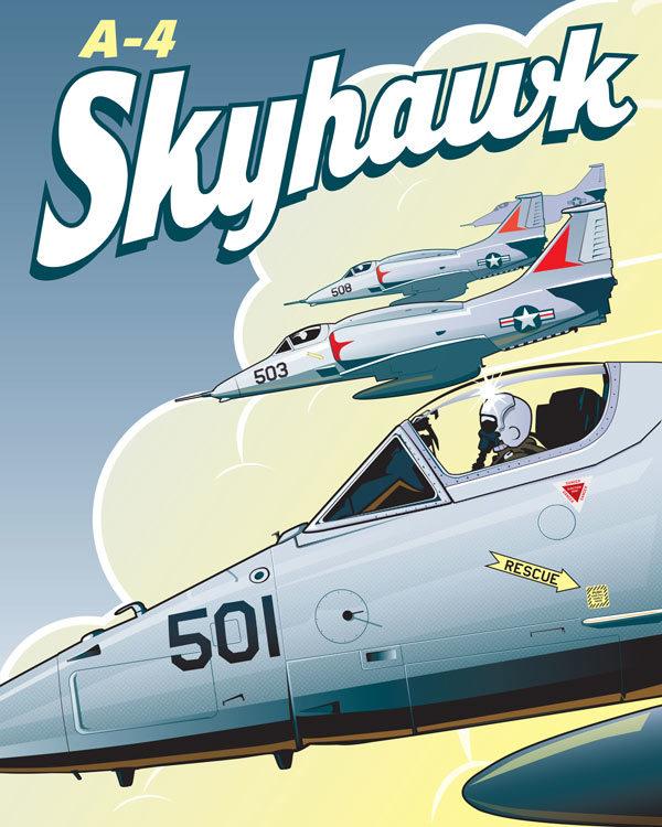 Douglas A-4 Skyhawk : douglas, skyhawk, Skyhawk, Through, Squadron, Posters