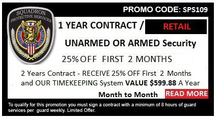 Special Offer | Security Guards & Vehicle Patrol | Squadron Protective Services-