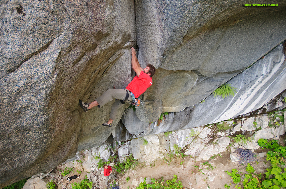 Rock climbing in Furry Creek, British Columbia, Canada
